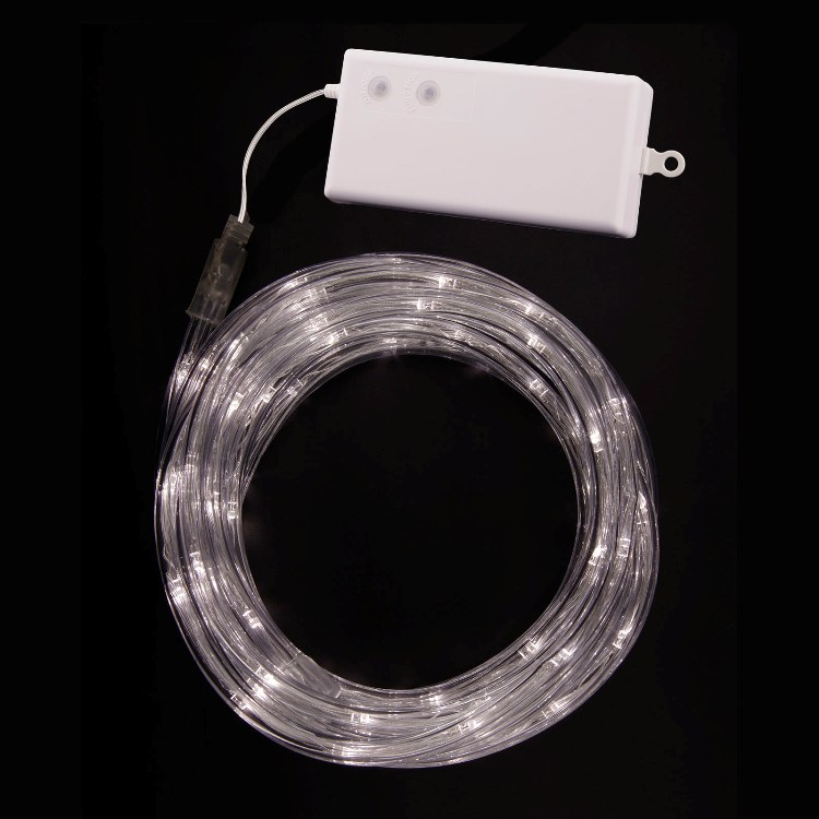 Accents White Led String Lights Battery Operated : Battery Operated Rope Lights Tube Lights Warm White
