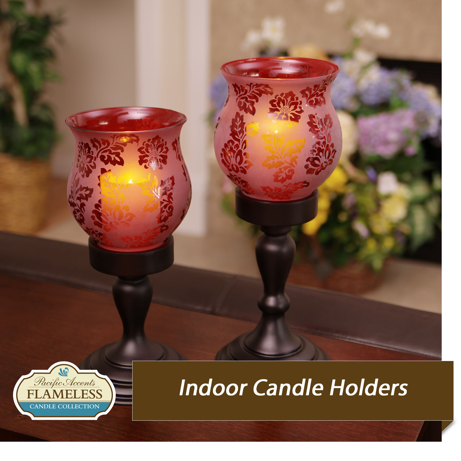 Flameless Indoor Candle Holders