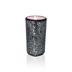 Solare 3D Virtual Flameless Candles  3x6 Mosaic Silver