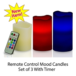 Flameless Color Changing Mood Candles In Stock