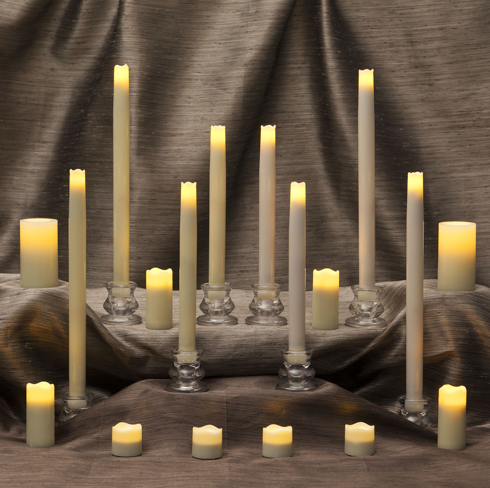 Flameless Tea Lights, Tapers and Votives