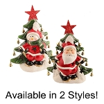 Holiday Arbor Illuminated Santa & Snowman Holiday D'cor