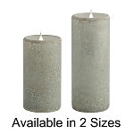 Solare 3D Virtual Flame Candles with Color-Hue Technology Crackled Mosaic