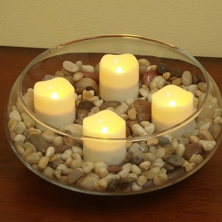 Flameless Tea Light Candles With Timer Pacific Accents
