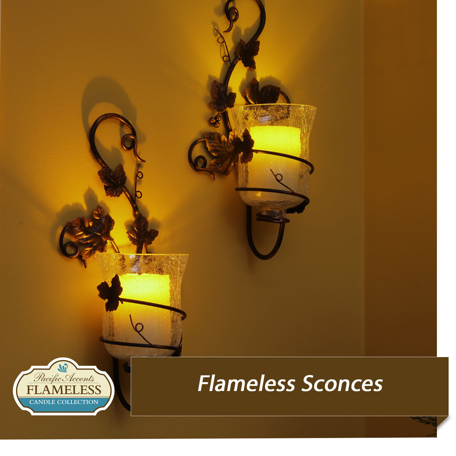 Flameless Candle Sconces