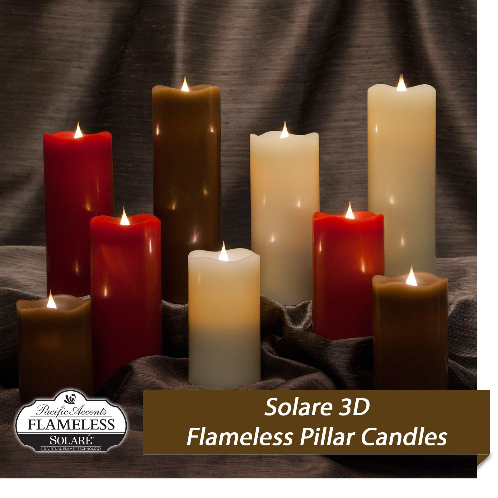 flameless candles with timer Flameless Candles by Pacific Accents | Lifelike Flameless Candles flameless candles with timer