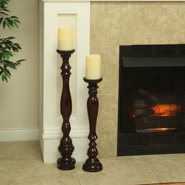 Top Hartford Wooden Flameless Candle Stand with Candle | Pacific Accents JX92