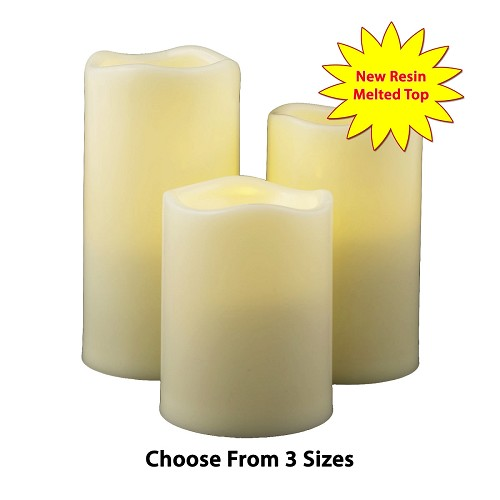 Flameless Candles for Outdoor Use 3 Sizes