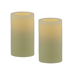 Large Flameless Votive Candles Set of 2