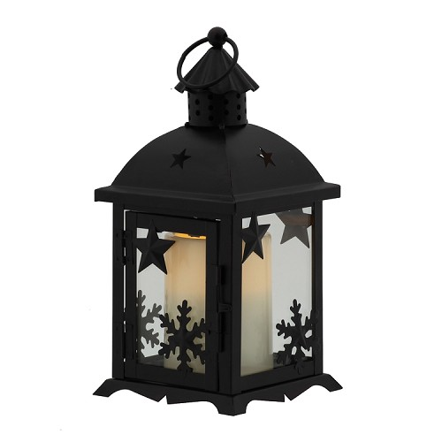 Flameless Candle Winter Lantern Oil Rubbed Bronze